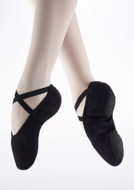Zapatilla Pro de ballet suave con suela partida de Repetto Negri Negro. [Negro]
