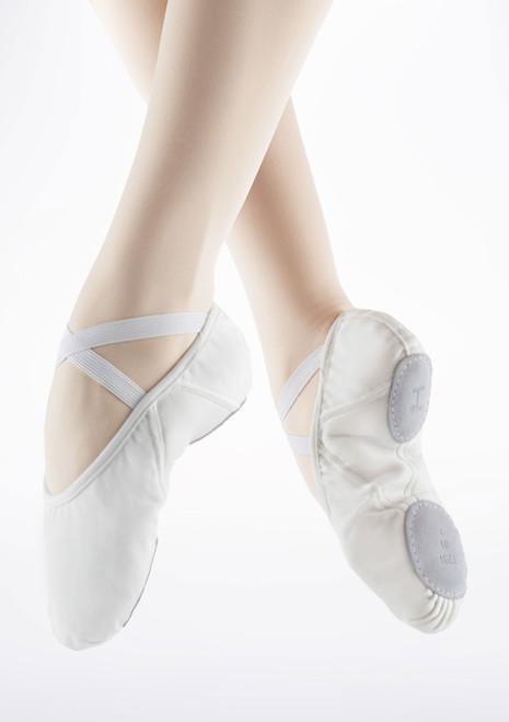 Zapatilla Pro de ballet suave con suela partida de Repetto Blanc Blanco. [Blanco]