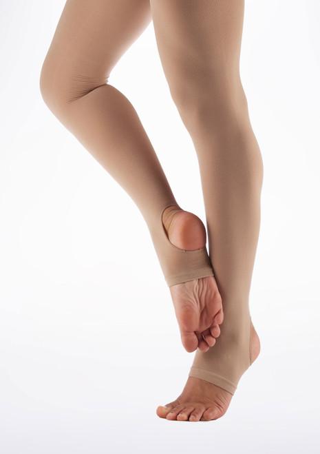 Medias Ballet Ninos con Estribos Move Dance  Marron Claro Marrón Claro. [Marrón Claro]