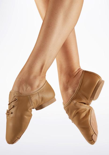 Zapatillas de Jazz con Suela Partida Alegra Tostado Marrón Claro. [Marrón Claro]
