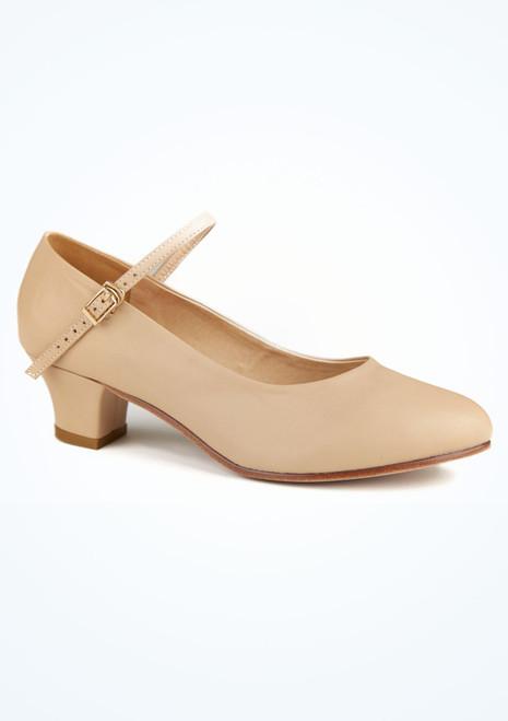 Zapato caracter Dina 4 cm natural Move Marrón Claro. [Marrón Claro]