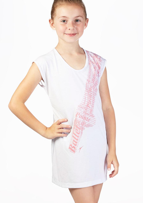 Vestido Camiseta de Ballet Nina So Danca Blanco. [Blanco]