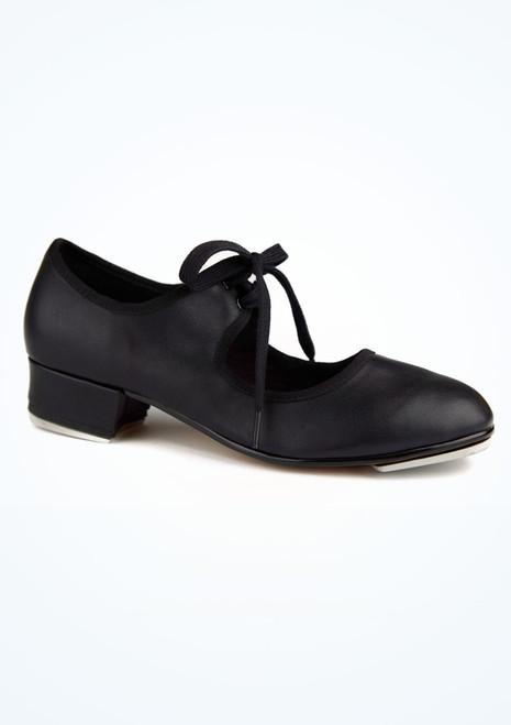 Zapato claque basico con cordonera Alegra Negro imagen principal. [Negro]