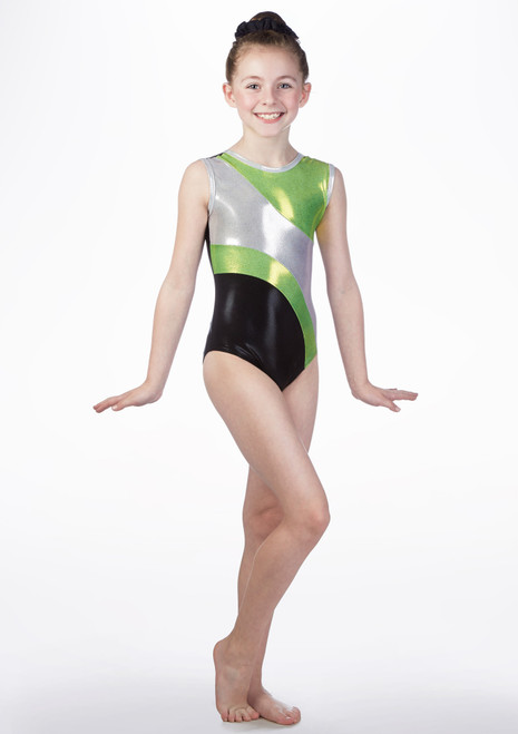 Maillot de gimnasia GYM41 Tappers and Pointers Verde frontal. [Verde]
