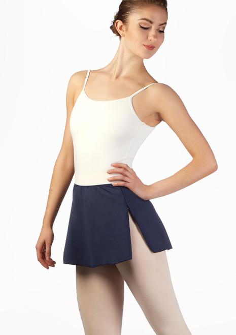 Falda elastica Ballet Rosa Azul frontal. [Azul]