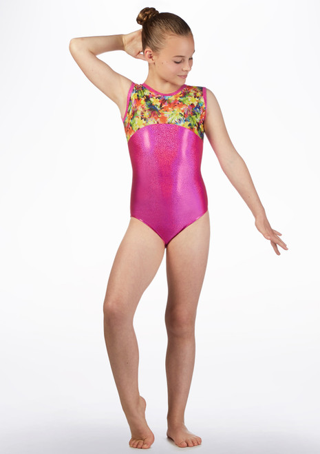 Maillot de gymnasia GYM50 Tappers and Pointers Rosa frontal. [Rosa]