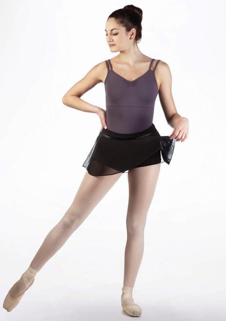 Falda con culotes Amelie Move Negro frontal. [Negro]