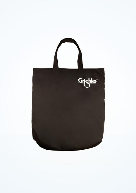 Bolso con asas y logotipo Grishko Negro frontal. [Negro]