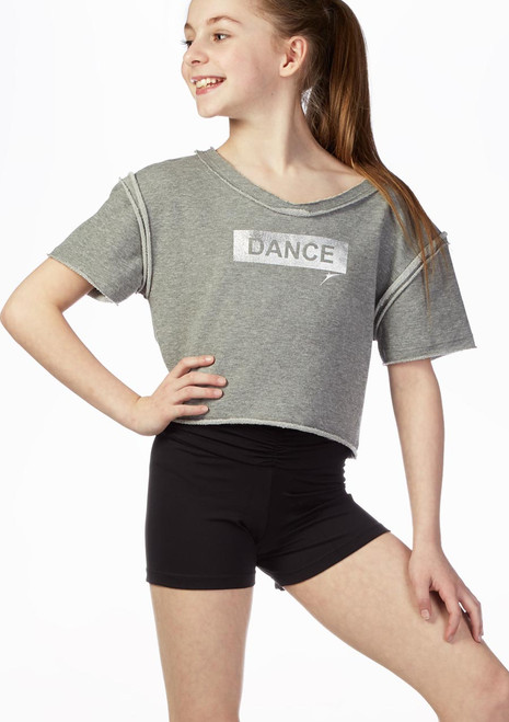 Sueter camiseta So Danca Gris frontal. [Gris]