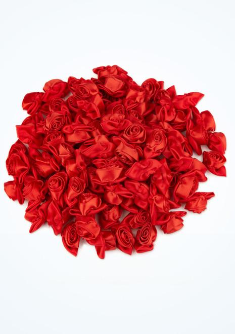 Rosas de raso grandes 100 unidades Rojo frontal. [Rojo]