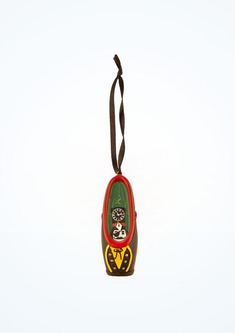 Adorno de zapatilla de puntas Drosselmeyer Swarovski Capezio Multicolor frontal. [Multicolor]
