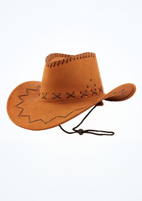 Sombrero de cowboy Marron Marrón frontal. [Marrón]