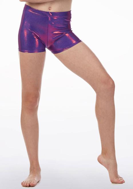 Pantalon corto de gimnasia Alegra Violeta frontal. [Violeta]