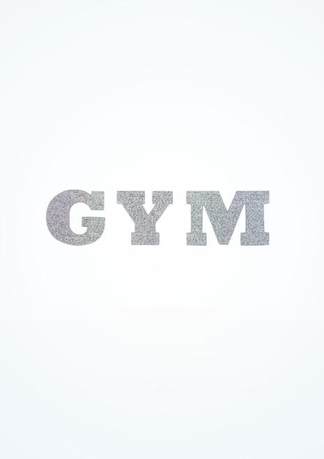 Pegatina de plancha Gym Intermezzo Plata frontal. [Plata]