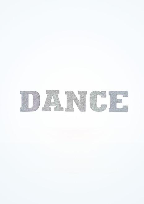 Pegatina de plancha Dance Intermezzo Plata frontal. [Plata]