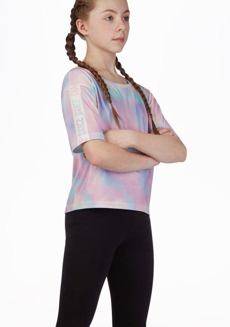 Camiseta de danza corta Move Dance Multicolor frontal. [Multicolor]