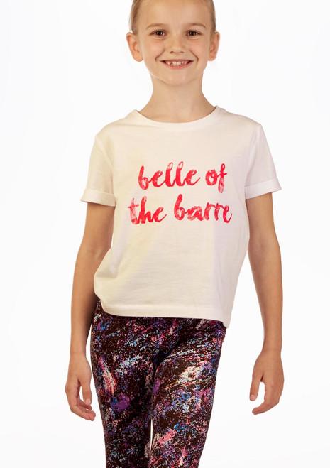 Camiseta Eslogan Barre Move Dance Blanco frontal. [Blanco]