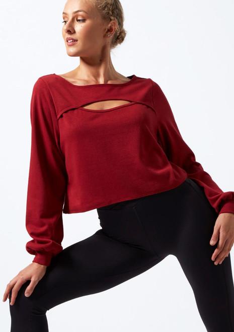 Sudadera con aperturas Move Dance Dare Rojo frontal. [Rojo]