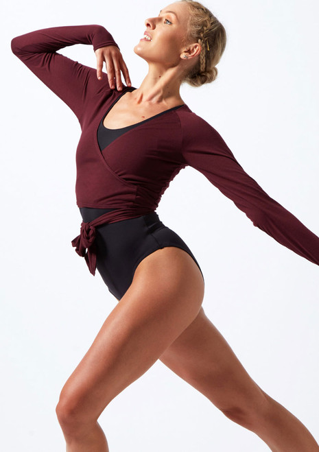 Top de baile con lazo Move Dance Reach Violeta frontal. [Violeta]
