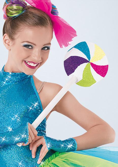 Weissman Giant Swirl Lollipop Multicolor frontal. [Multicolor]