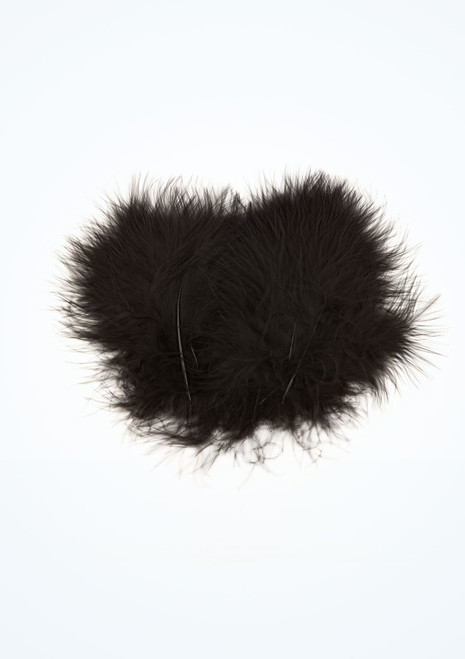 Pluma de marabu 20 unidades Negro imagen principal. [Negro]