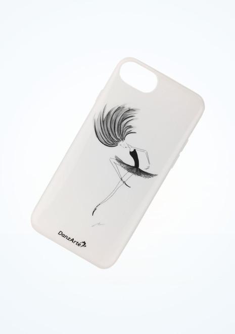 Funda para iPhone 6/6s/7 Ballerina Danzarte Blanco frontal. [Blanco]
