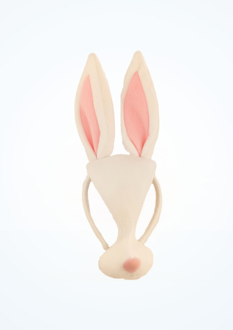 Careta de conejo Blanco frontal. [Blanco]