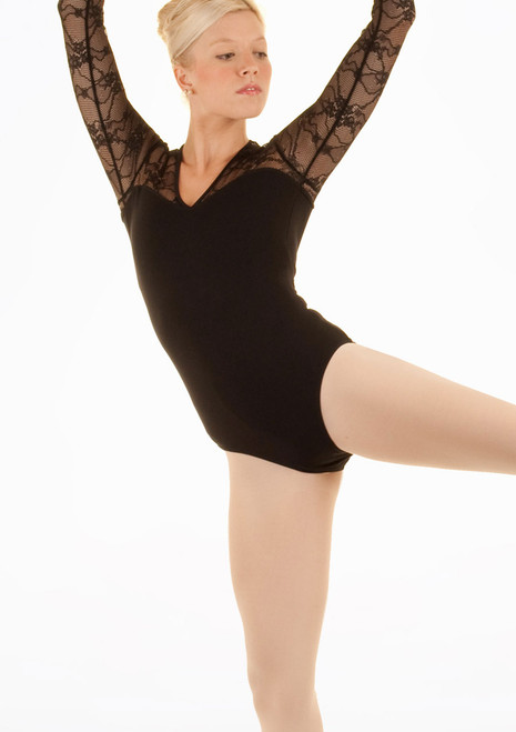 Bloch Kate Maillot Negro frontal. [Negro]