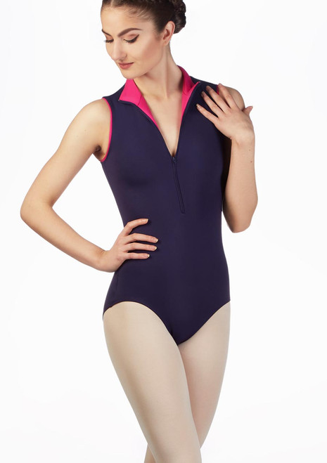 Maillot Ballet Moxie Gaynor Minden Azul frontal. [Azul]