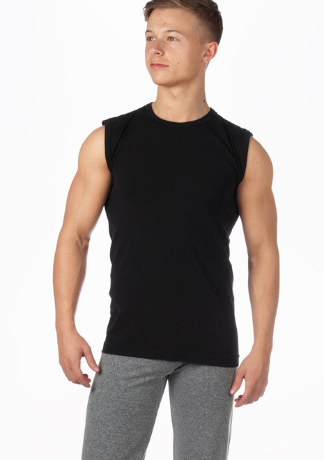 Camiseta hombre sin mangas ni costuras Alvaro de Move Negro. [Negro]