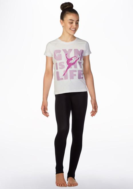 Camiseta de gimnasia Gym Life Elite Blanco frontal. [Blanco]