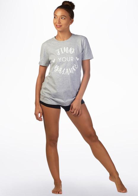 Camiseta de danza Balance Kelham Gris frontal. [Gris]