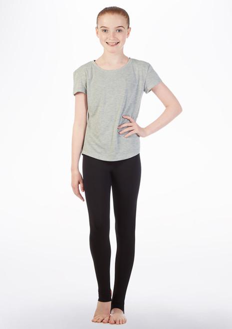 Camiseta Swing con espalda abierta Bloch Gris frontal. [Gris]