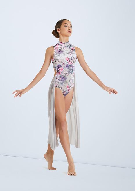 Weissman Floral Velvet Dress Violeta frontal. [Violeta]