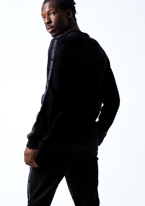 Sudadera de danza Groove para hombre Move Dance Negro  Detrás-1T [Negro ]