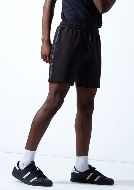 Pantalones cortos Beat Dance para hombre Move Dance Negro  Delante-2T [Negro ]