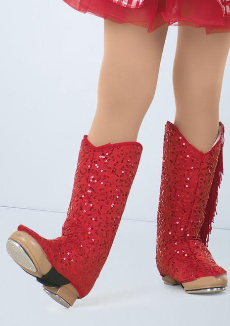 Weissman Sequin Cowgirl Boot Spats