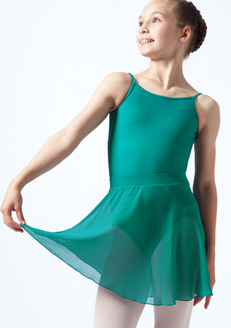 Falda de gasa Adaline para adolescente Move Dance Rosa  Delante-2. [Rosa ]