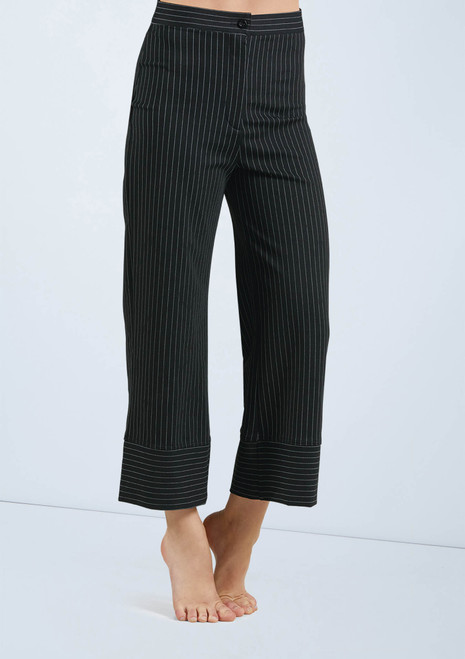 Weissman Wide Leg Pinstripe Pants