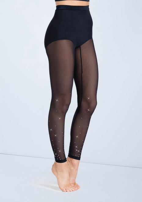 Weissman Crystal Mesh Leggings