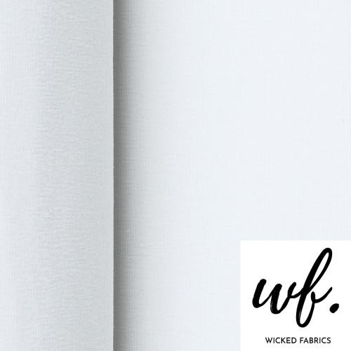 "Bamboo Elastane Jersey in ""White"" | Organic - 50CM"