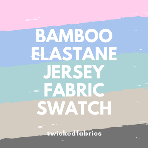 "Bamboo Elastane Jersey ""Fabric Swatch"" Sample Purchase"