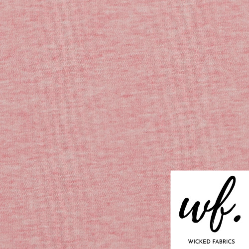 """Pink"" Melange Cotton Elastane French Terry 