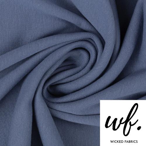 "Cotton Elastane Ribbing in ""Cornflower Blue"" 240GSM | Solid | OEKO-TEX 100 | EURO - 10CM"