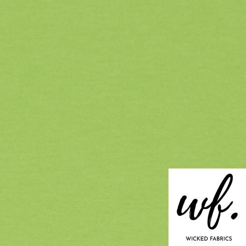 """Kiwi Green"" OEKO-TEX 100 SOLID Cotton Elastane Ribbing EURO - 10CM"