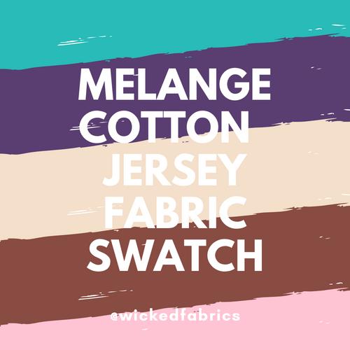 "Melange Cotton Elastane Jersey ""Fabric Swatch"" Sample Purchase"