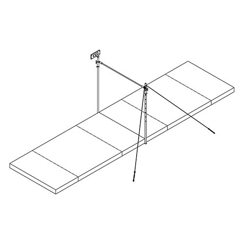 Wall-Mounted Horizontal Bar