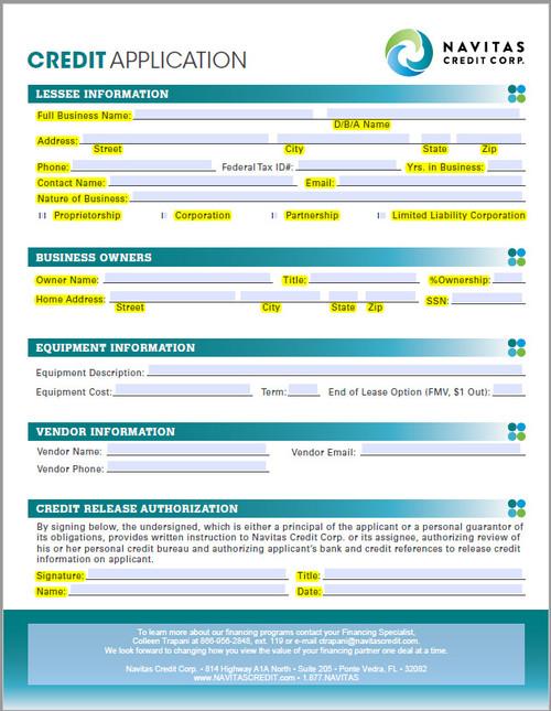 Navitas Credit Application