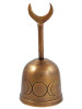 Bronze Triple Moon Altar Bell 12.7cm / 5""