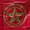 Red & Gold  Pentagram Altar or Tarot Cloth